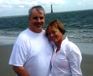 An early fall stroll on Folly Beach is an excellent way to pass the day. Here I am with my friend, Michael - wind swept and wonderful fun!