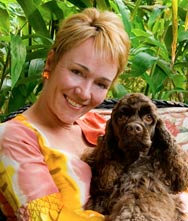 Holly Herrick and her Cocker Spaniel Tan Man