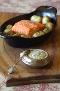 Anchovy and Parsley Mayonnaise with Salmon from The French Cook: Sauces. Photo by Steven Rothfeld