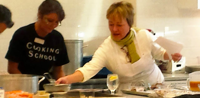 Holly teaches cooking classes at Southern Seasons