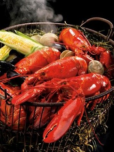 Beautiful Boiled Lobsters (photo from lobsterfrommaine.com)