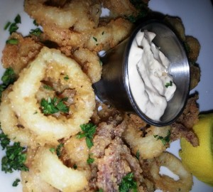 Exquisite calamari graces Brasserie Gigi's happy hour menu.